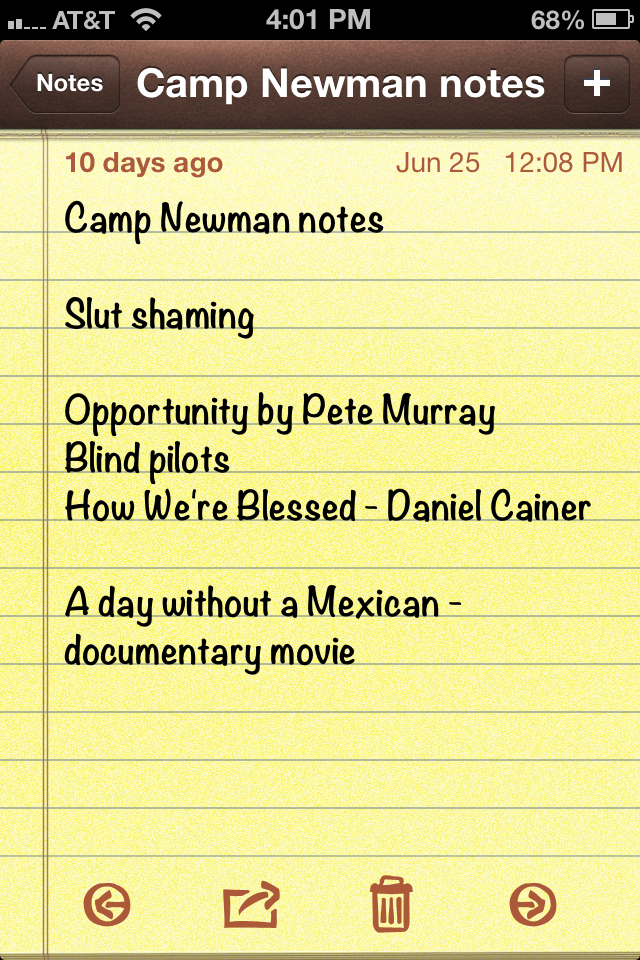 What I learned this summer at camp (1/3)