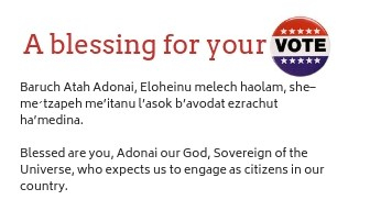 A blessing for voting